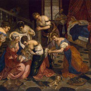 Birth of John the Baptist, TINTORETTO,jpg